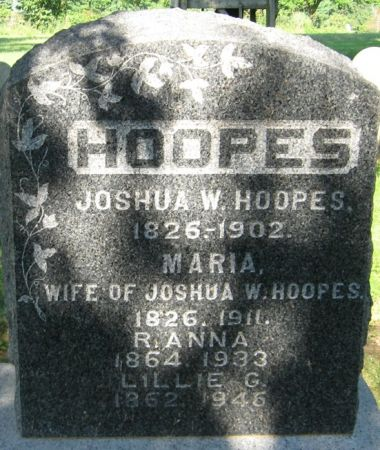 HOOPES, LILLIE G. - Muscatine County, Iowa   LILLIE G. HOOPES