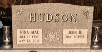 HUDSON, NINA MAE - Muscatine County, Iowa | NINA MAE HUDSON