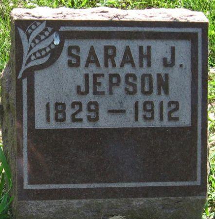 JEPSON, SARAH J. - Muscatine County, Iowa   SARAH J. JEPSON