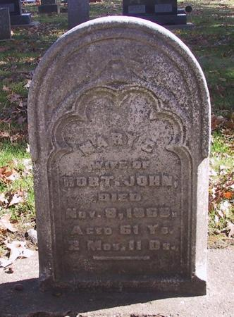 WORTHINGTON JOHN, MARY - Muscatine County, Iowa | MARY WORTHINGTON JOHN