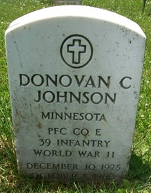 JOHNSON, DONOVAN C. - Muscatine County, Iowa | DONOVAN C. JOHNSON
