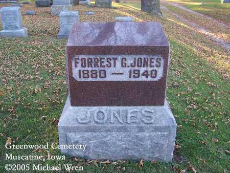 JONES, FORREST G. - Muscatine County, Iowa   FORREST G. JONES