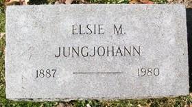 JUNGJOHANN, ELSIE MAUDE - Muscatine County, Iowa   ELSIE MAUDE JUNGJOHANN