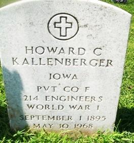 KALLENBERGER, HOWARD CASPER - Muscatine County, Iowa   HOWARD CASPER KALLENBERGER