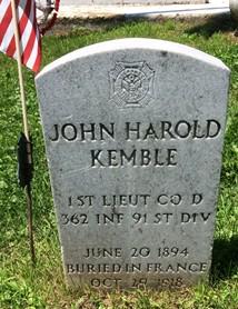 KEMBLE, JOHN HAROLD - Muscatine County, Iowa   JOHN HAROLD KEMBLE