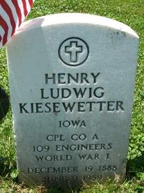 KIESEWETTER, HENRY LUDWIG - Muscatine County, Iowa   HENRY LUDWIG KIESEWETTER
