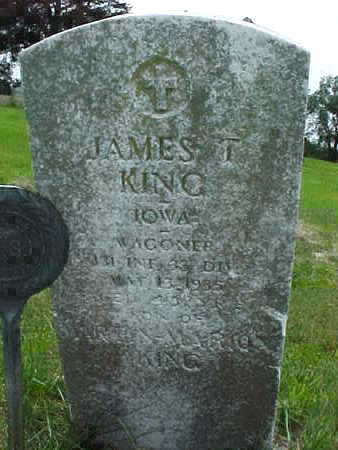 KING, JAMES T. - Muscatine County, Iowa | JAMES T. KING