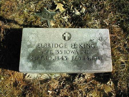 KING, PVT. ELBRIDGE H. - Muscatine County, Iowa | PVT. ELBRIDGE H. KING