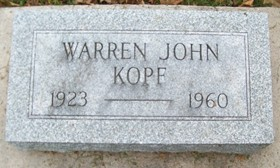 KOPF, WARREN JOHN - Muscatine County, Iowa | WARREN JOHN KOPF