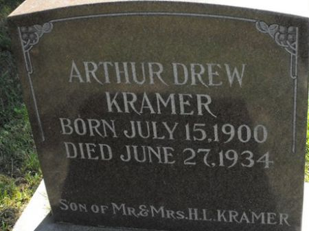 KRAMER, ARTHUR DREW - Muscatine County, Iowa   ARTHUR DREW KRAMER