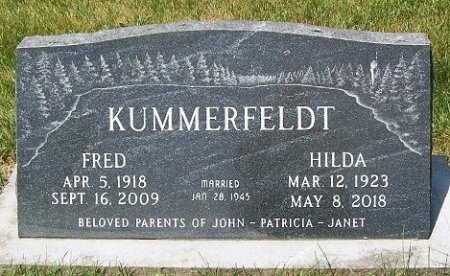 KUMMERFELDT, HILDA OLGA - Muscatine County, Iowa | HILDA OLGA KUMMERFELDT