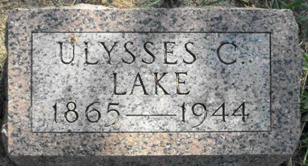 LAKE, ULYSSES C. - Muscatine County, Iowa   ULYSSES C. LAKE