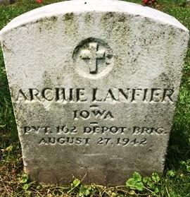 LANFIER, ARCHIE - Muscatine County, Iowa   ARCHIE LANFIER