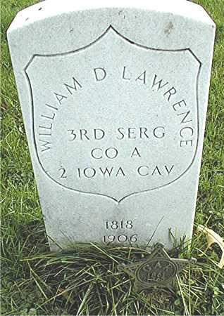 LAWRENCE, WILLIAM D. - Muscatine County, Iowa | WILLIAM D. LAWRENCE