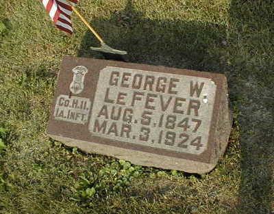 LEFEVER, GEORGE W. - Muscatine County, Iowa | GEORGE W. LEFEVER
