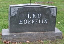 LEU-HOEFFLIN, FAMILY MONUMENT - Muscatine County, Iowa | FAMILY MONUMENT LEU-HOEFFLIN
