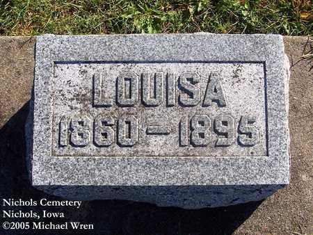 LINDEE, LOUISA - Muscatine County, Iowa   LOUISA LINDEE