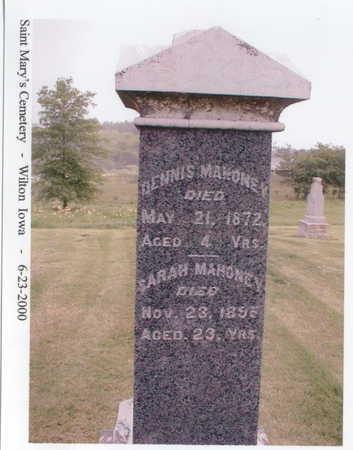 MAHONEY, SARAH - Muscatine County, Iowa | SARAH MAHONEY