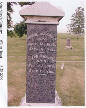 MAHONEY, JOHNIE - Muscatine County, Iowa | JOHNIE MAHONEY