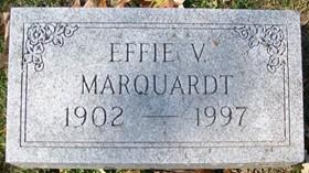 HENDERSON MARQUARDT, EFFIE V. - Muscatine County, Iowa   EFFIE V. HENDERSON MARQUARDT