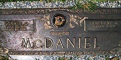 MCDANIEL, GENEVIEVE MARJORIE - Muscatine County, Iowa | GENEVIEVE MARJORIE MCDANIEL