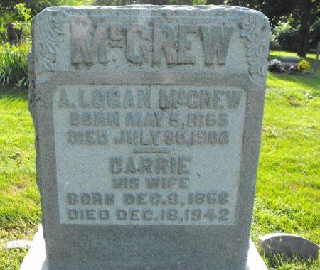 MCGREW, A. LOGAN - Muscatine County, Iowa   A. LOGAN MCGREW