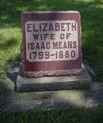 MEANS, ELIZABETH - Muscatine County, Iowa | ELIZABETH MEANS