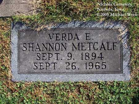 METCALF, VERDA ESTELLE - Muscatine County, Iowa | VERDA ESTELLE METCALF