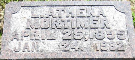 MORTIMER, L. ATHENA - Muscatine County, Iowa | L. ATHENA MORTIMER
