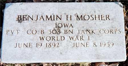 MOSHER, BENJAMIN H. - Muscatine County, Iowa   BENJAMIN H. MOSHER
