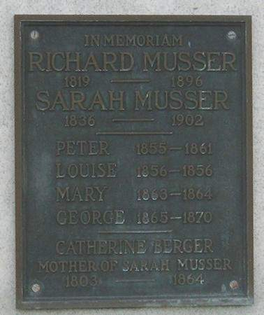 MUSSER, RICHARD - Muscatine County, Iowa | RICHARD MUSSER