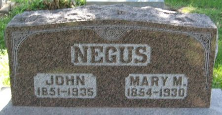 NEGUS, MARY M. - Muscatine County, Iowa | MARY M. NEGUS