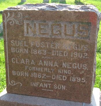 NEGUS, CLARA ANNA - Muscatine County, Iowa | CLARA ANNA NEGUS