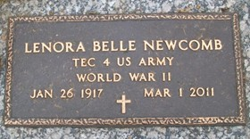 NEWCOMB, LENORA BELLE - Muscatine County, Iowa | LENORA BELLE NEWCOMB