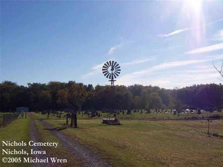 NICHOLS, CEMETERY - Muscatine County, Iowa | CEMETERY NICHOLS