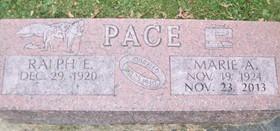 PACE, RALPH EDWIN - Muscatine County, Iowa   RALPH EDWIN PACE