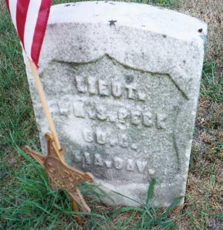 PECK, LT. WM. S. - Muscatine County, Iowa | LT. WM. S. PECK