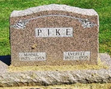 PIKE, MINNIE D - Muscatine County, Iowa   MINNIE D PIKE