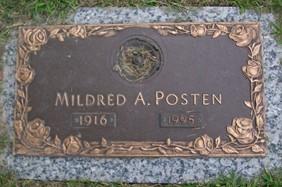 POSTEN, MILDRED A. - Muscatine County, Iowa   MILDRED A. POSTEN