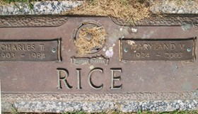 RICE, MARYLAND V. - Muscatine County, Iowa   MARYLAND V. RICE