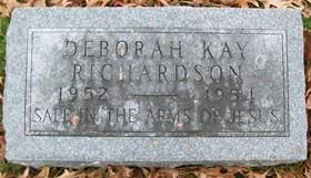 RICHARDSON, DEBORAH KAY - Muscatine County, Iowa   DEBORAH KAY RICHARDSON