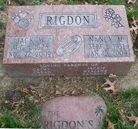 RIGDON, JACK W. - Muscatine County, Iowa   JACK W. RIGDON
