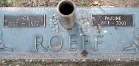 ROEFF, JACK - Muscatine County, Iowa   JACK ROEFF