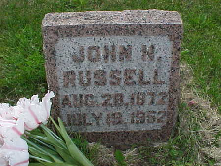 RUSSELL, JOHN H. - Muscatine County, Iowa | JOHN H. RUSSELL
