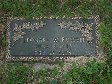 RUSSELL, LEONARD W. - Muscatine County, Iowa | LEONARD W. RUSSELL