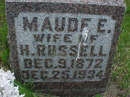 RUSSELL, MAUDE E. - Muscatine County, Iowa | MAUDE E. RUSSELL