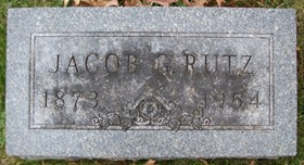 RUTZ, JACOB GEORGE - Muscatine County, Iowa | JACOB GEORGE RUTZ