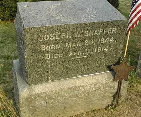 SHAFFER, JOSEPH W. - Muscatine County, Iowa | JOSEPH W. SHAFFER
