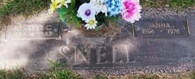 TSCHILLARD SNELL, ANNA - Muscatine County, Iowa   ANNA TSCHILLARD SNELL