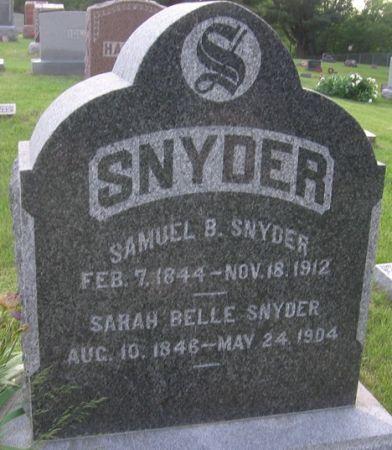 SNYDER, SARAH BELLE - Muscatine County, Iowa | SARAH BELLE SNYDER